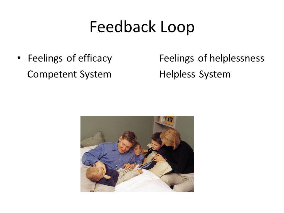 Feedback Loop Feelings of efficacyFeelings of helplessness Competent SystemHelpless System