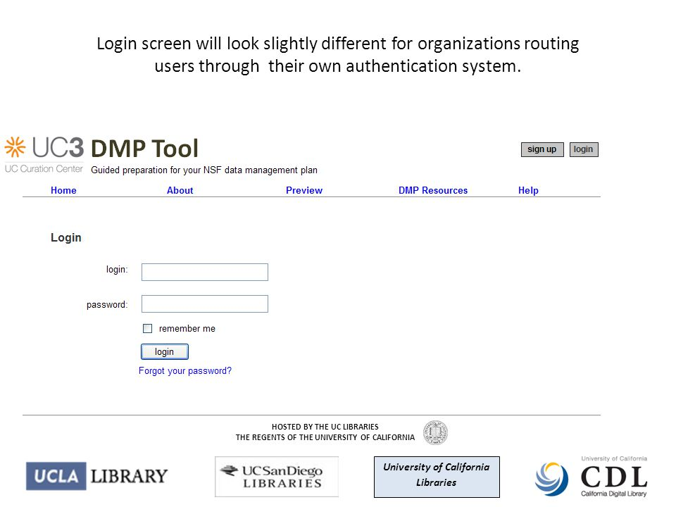 Login screen will look slightly different for organizations routing users through their own authentication system.