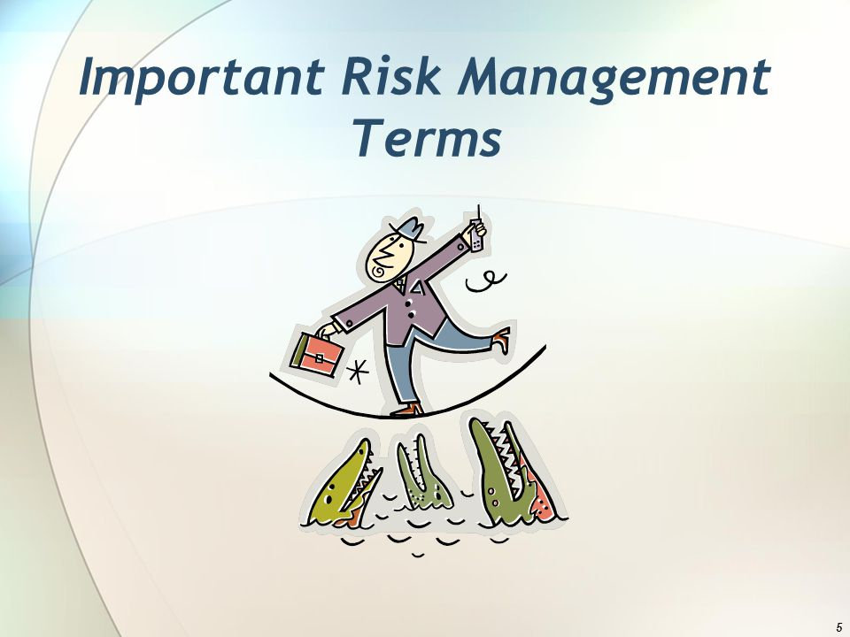 Important Risk Management Terms 5