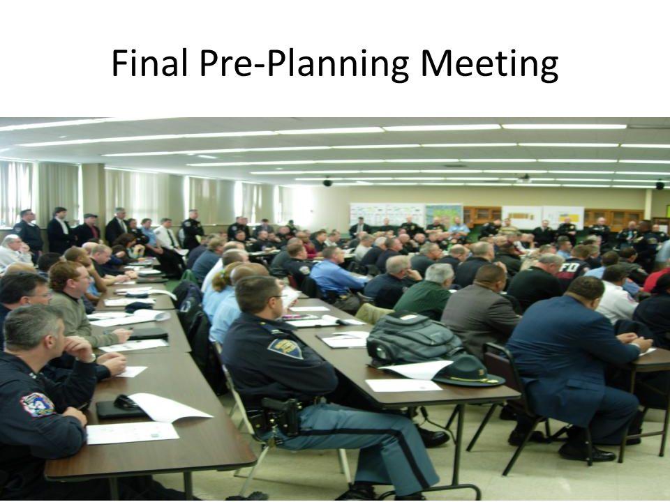 Final Pre-Planning Meeting