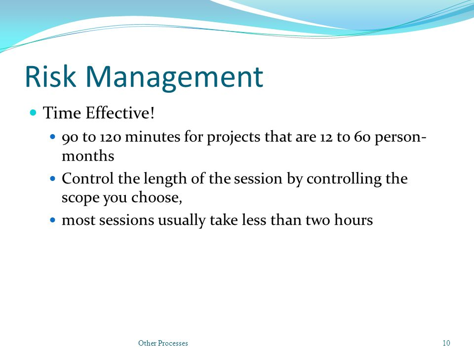 Risk Management Time Effective.