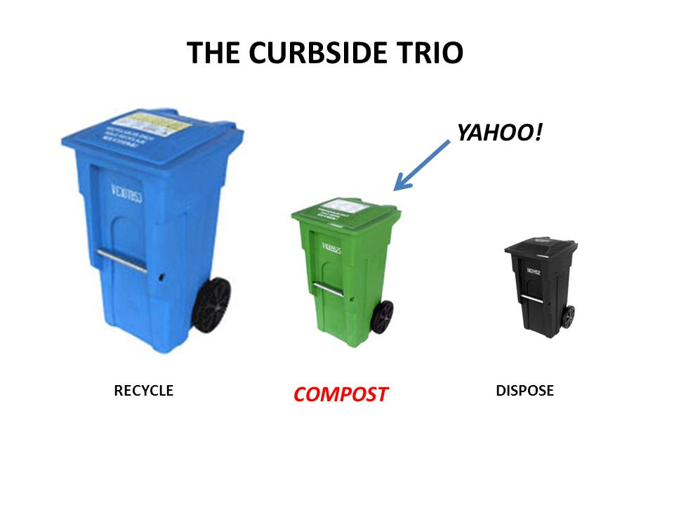 RECYCLE COMPOST DISPOSE THE CURBSIDE TRIO YAHOO!