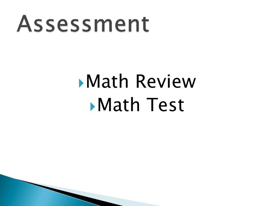 Math Review Math Test