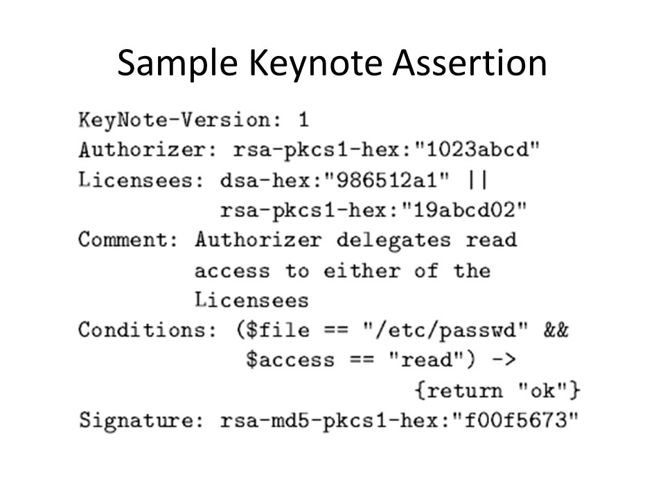 Sample Keynote Assertion