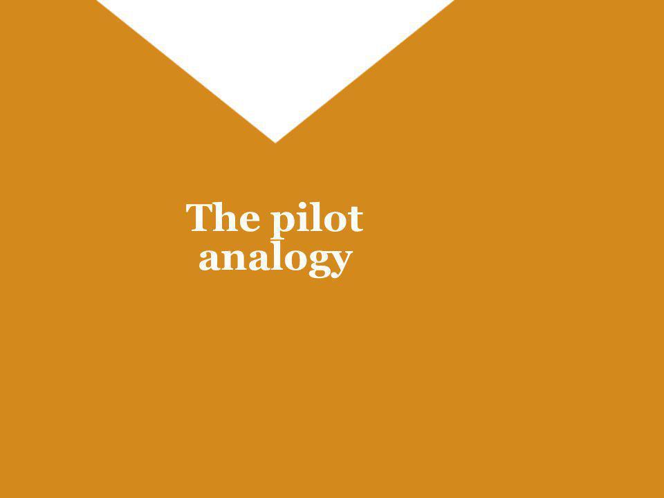 The pilot analogy