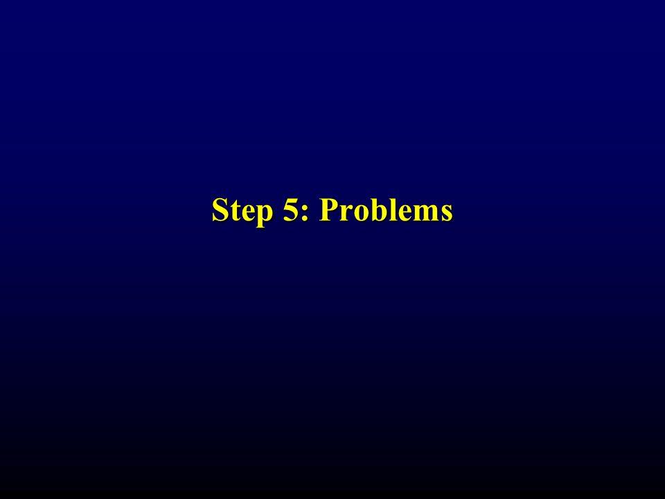 Step 5: Problems