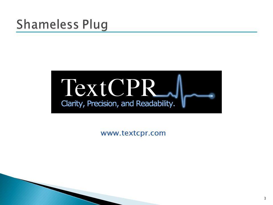 3 www.textcpr.com