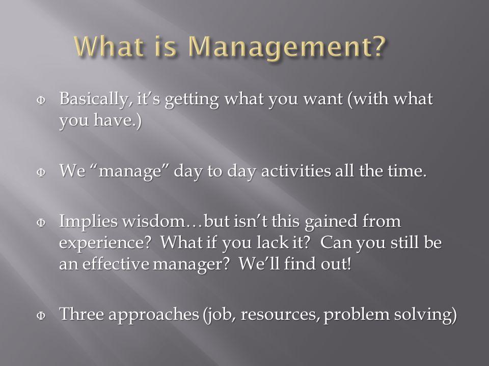 Φ Yes, many people liken the job of a manager to the CNS of an animal.