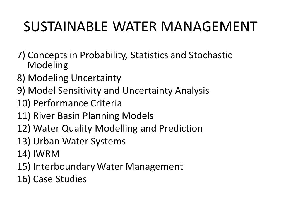 Topics for Term Paper 1) Interboundary Water Management between Estonia and Russia 2) IWRM Plan of Estonia 3) Ecological Minimal Flow for Fish Path from Reservoirs in Hydraulic Power Plants 4) Restoration of Ecological System Using Biomass Replacement of Hydraulic Power Plants 5) Cost and Benefit Analysis of Leachate Treatment Alternatives 6) Advanced Oxidation Process of Leachate Treatment 7) Cost and Benefit Analysis of Combined Sewer vs.