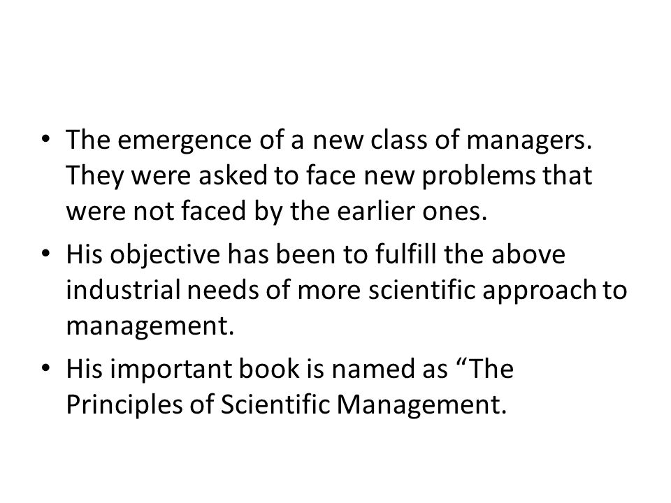 The emergence of a new class of managers.