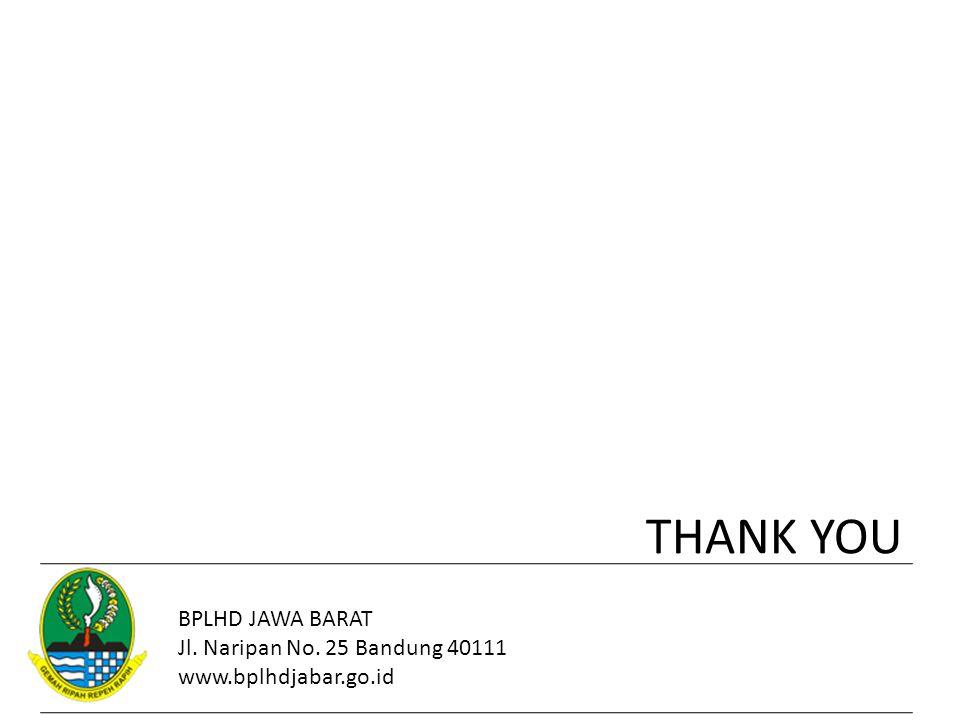 THANK YOU BPLHD JAWA BARAT Jl. Naripan No. 25 Bandung 40111 www.bplhdjabar.go.id