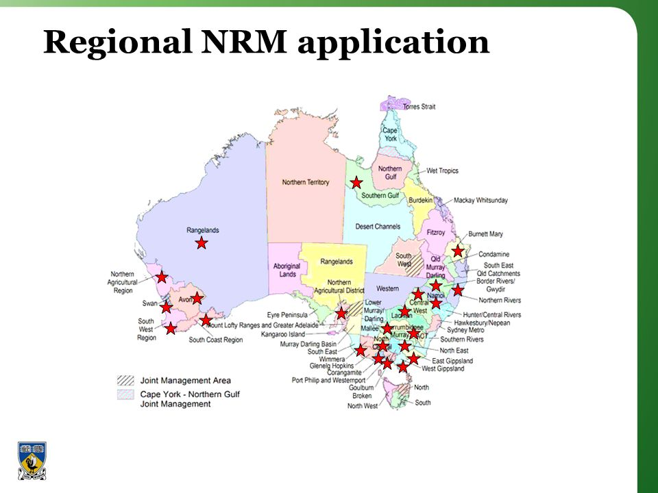 Regional NRM application