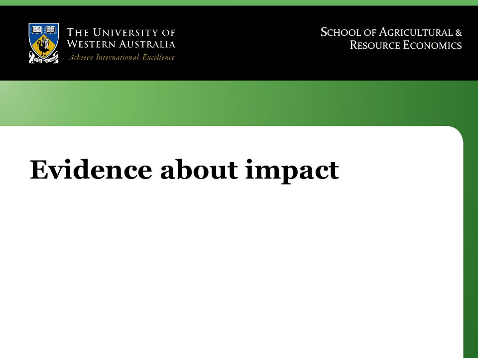 Evidence about impact