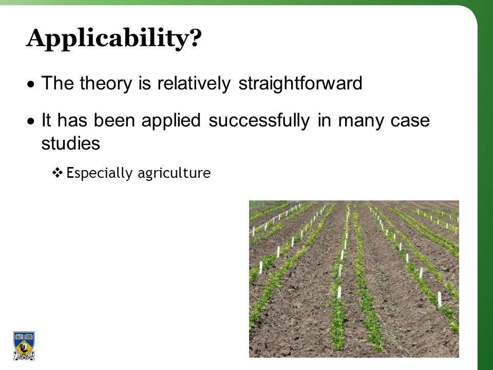 Applicability.