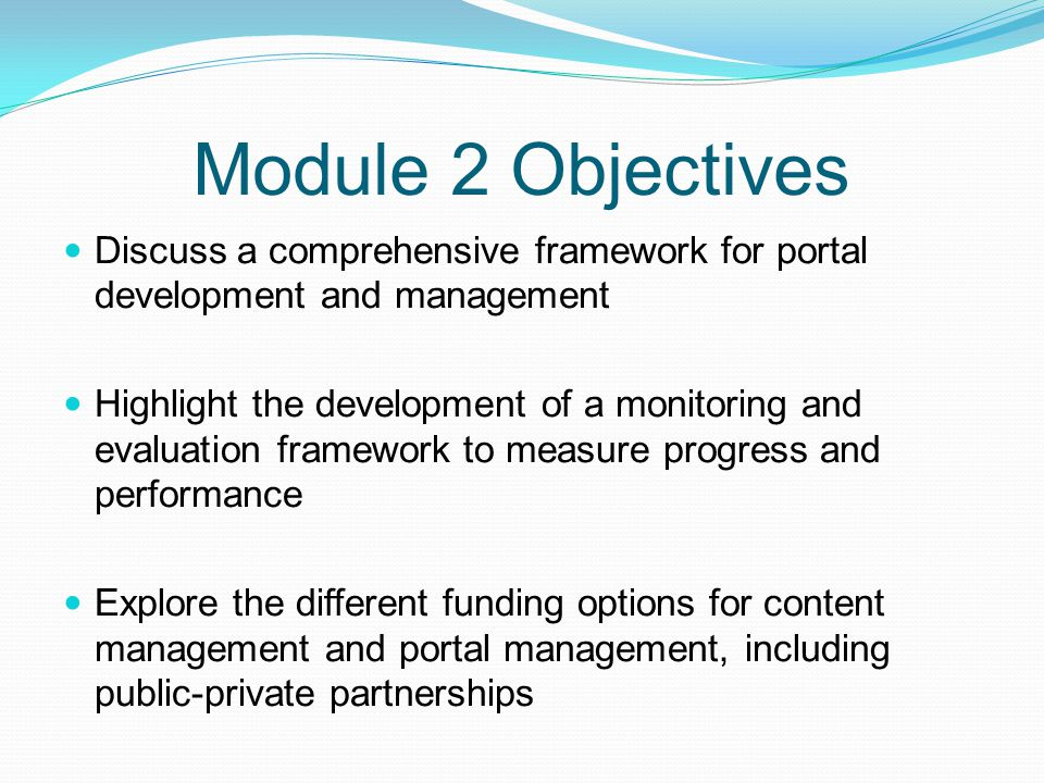 Exercise In groups of 4-6 people, take stock of the different websites and portals currently available and planned in Iraq.