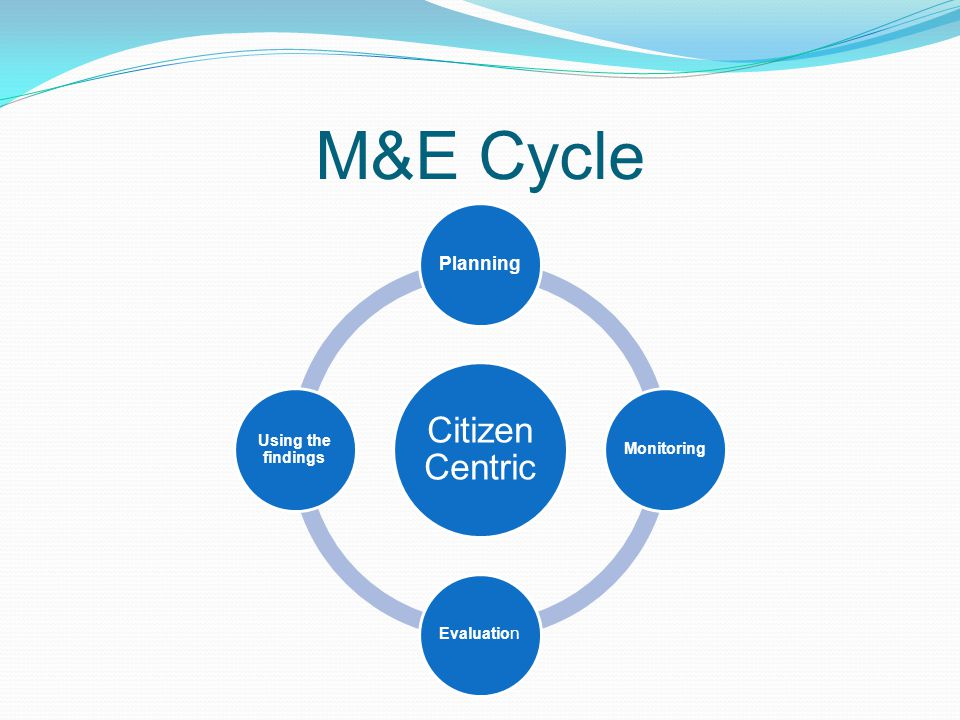 M&E Cycle Citizen Centric Planning MonitoringEvaluation Using the findings