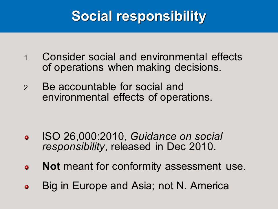 Social responsibility 1.