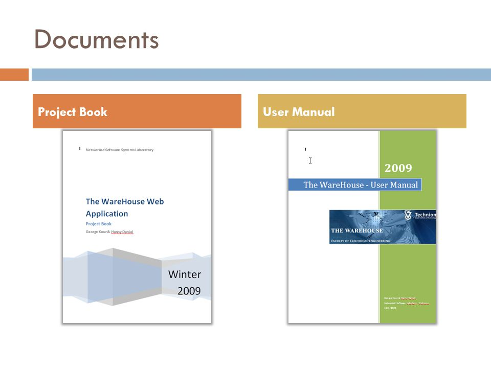 Documents Project BookUser Manual