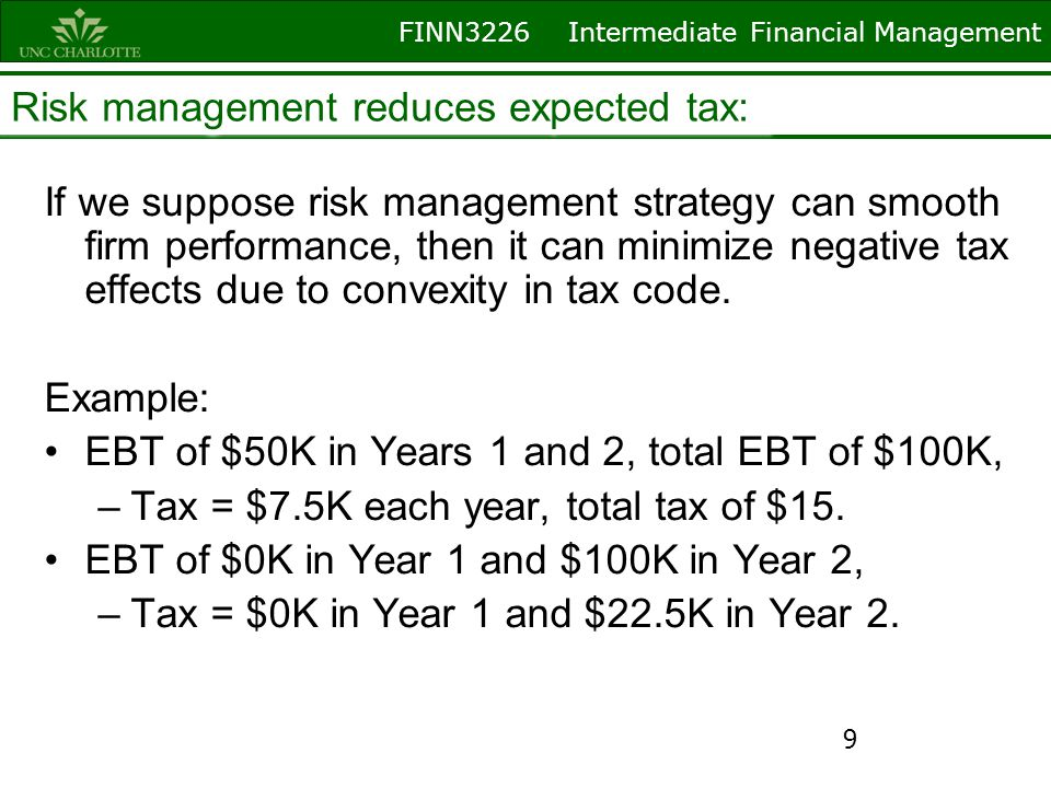 FINN3226 Intermediate Financial Management Derivative securities and risk management Futures/Forwards: Contracts which call for the purchase or sale of a financial (or real) asset at some future date, but at a price determined today.