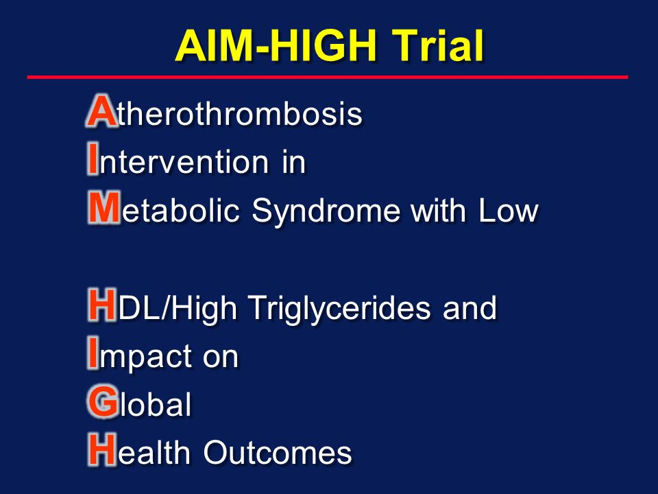 AIM-HIGH Trial