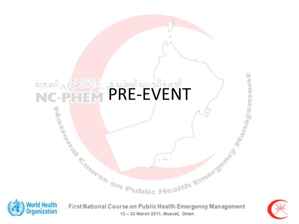 PRE-EVENT