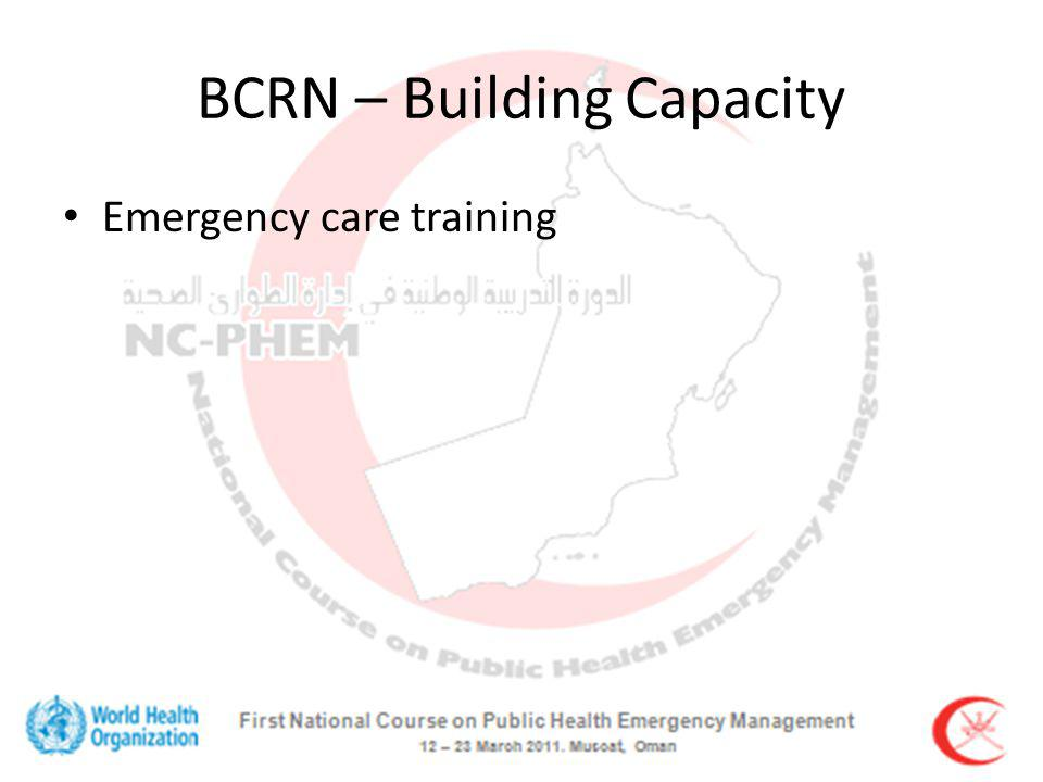 BCRN – Building Capacity Emergency care training