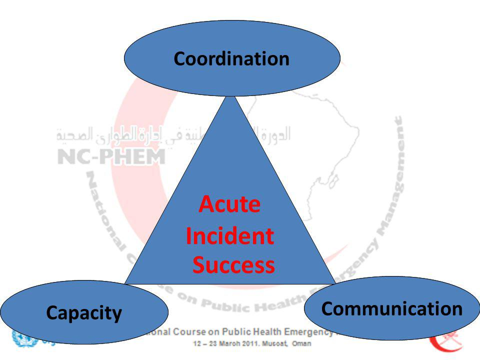 Paralysis Deafness Multi-Organisation Failure Acute Incident Failure Coordination Capacity Communication Success