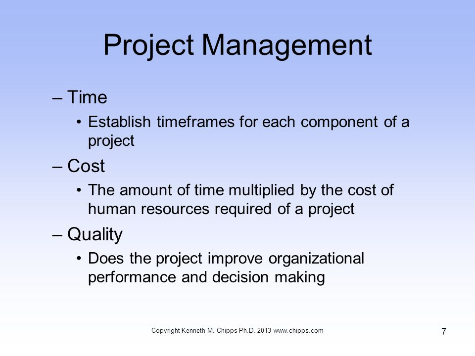 Causes of Failure Causes of implementation success and failure are user involvement and influence, the level of complexity and risk, management support and commitment, and management of the implementation process Copyright Kenneth M.