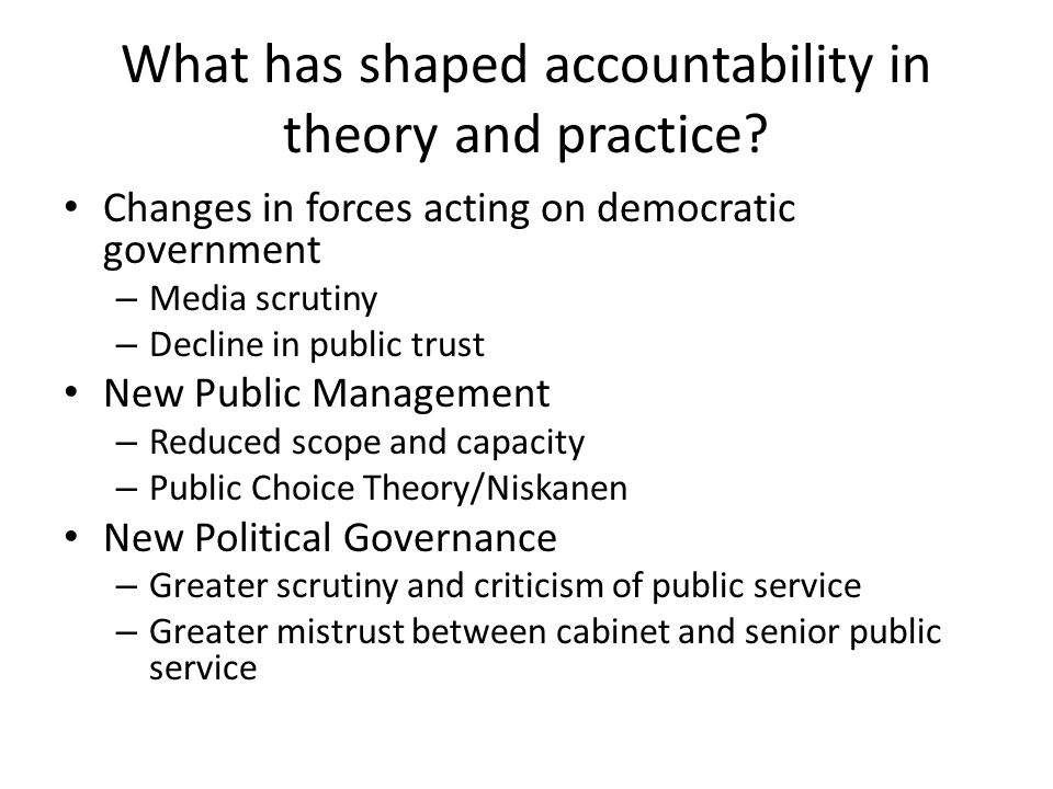 Factors shaping MAF Push for more accountability Recognition that performance measurement should be standardized and coordinated Desire for a tool for public sector improvement from within Sequel to the Modern Comptrollership Initiative Extension of comptrollership beyond finances and physical resources