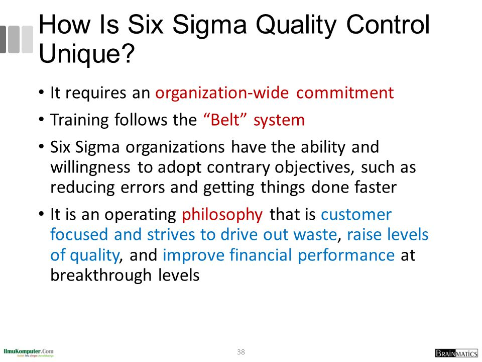 How Is Six Sigma Quality Control Unique.