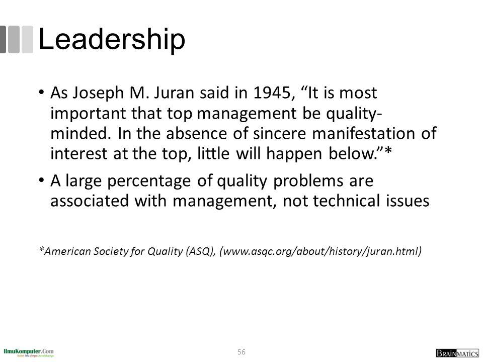 Leadership As Joseph M.