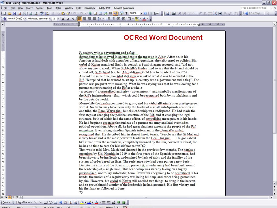 OCRed Word Document