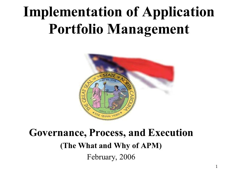 2 Presentation Agenda Topic Slides Approximate Times (Minutes) Perspectives and Overview of APM Concepts, Processes, and Practices of APM Implementation of APM in NC State Government Questions Total Time60 3 -10 10 - 24 24 -36 10 15 20 15