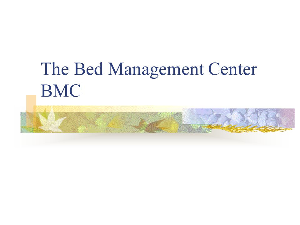 The Bed Management Center BMC