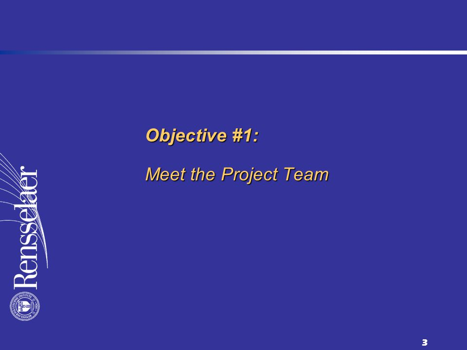 3 Objective #1: Meet the Project Team