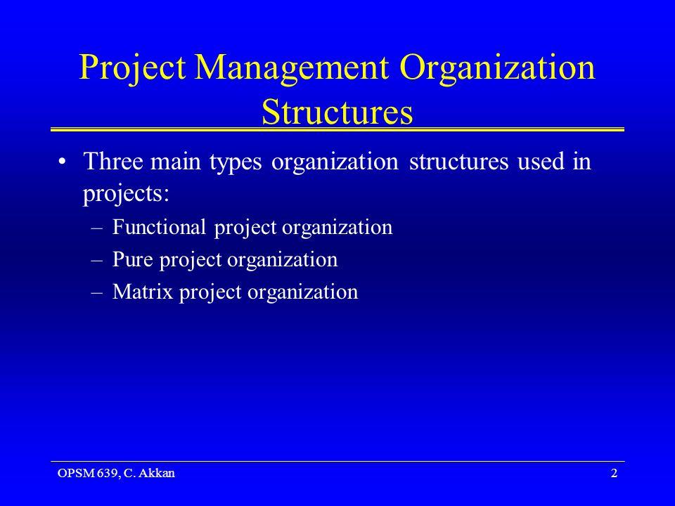 OPSM 639, C.Akkan13 Lightweight Matrix Project Organization In lightweight structures...