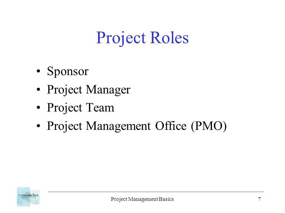 Project Management Basics18 Optimize the Plan Adjust calendars Adjust resources Critical path analysis Evaluate slack