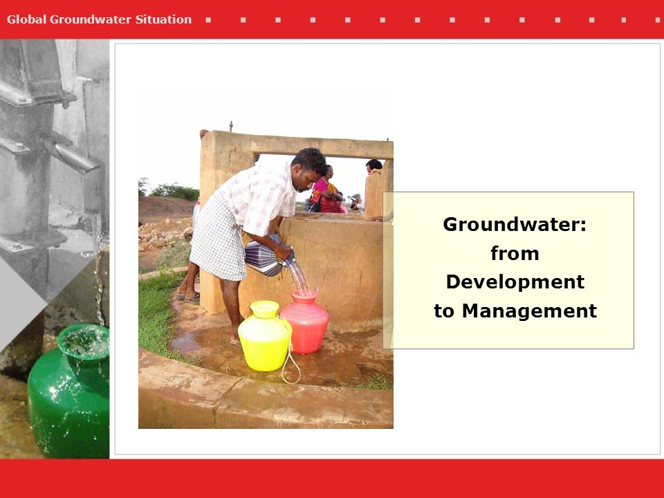 Groundwater: from Development to Management