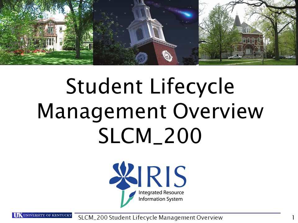 Unit 1 Student Administration Tab 12SLCM_200 Student Lifecycle Management Overview
