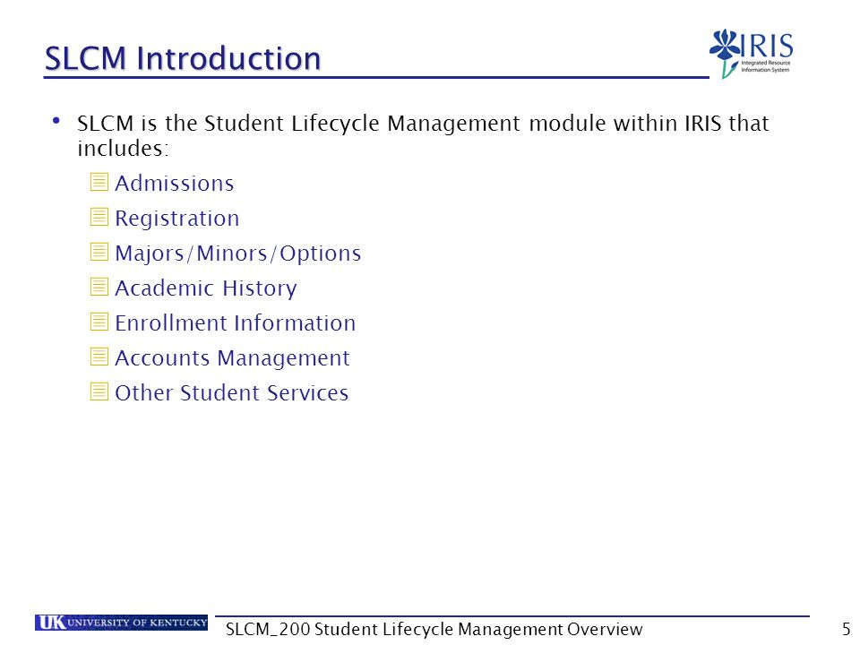 Student Master Data Display/Change toggle allows you to change from Display mode to Maintain mode, provided your role allows the access In Display mode, fields are gray and cannot be modified In Maintain mode, modifiable fields are white 66SLCM_200 Student Lifecycle Management Overview