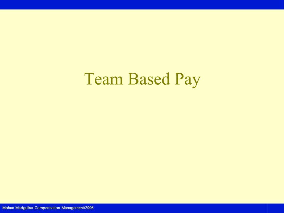 Mohan Madgulkar-Compensation Management/2006 Team Based Pay