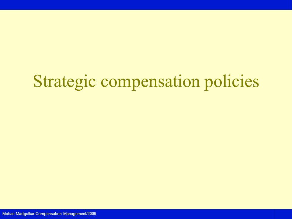Mohan Madgulkar-Compensation Management/2006 Strategic compensation policies