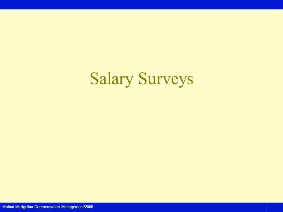 Mohan Madgulkar-Compensation Management/2006 Salary Surveys