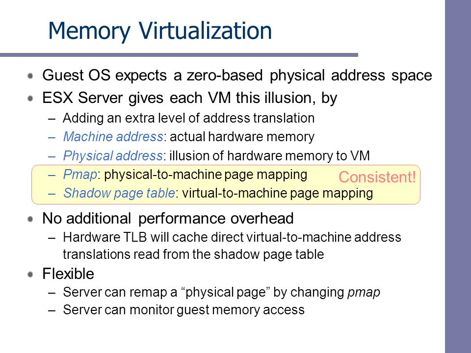 Idle Memory Taxation Performance Two VMs with identical share allocations, configured with 256MB in an overcommitted system.