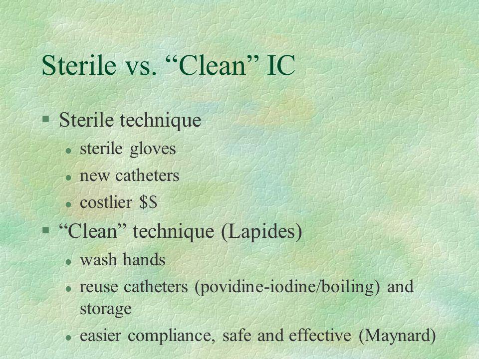 Sterile vs.