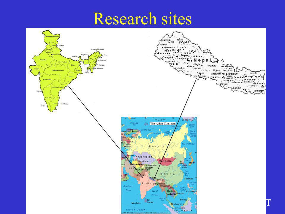 DRAFT Research sites