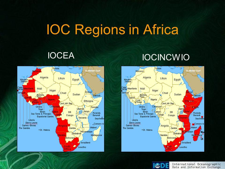 IOC Regions in Africa IOCEA IOCINCWIO