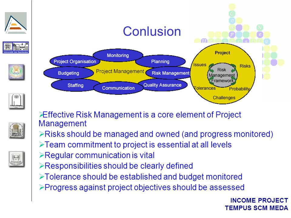 INCOME PROJECT TEMPUS SCM MEDA Example Risk
