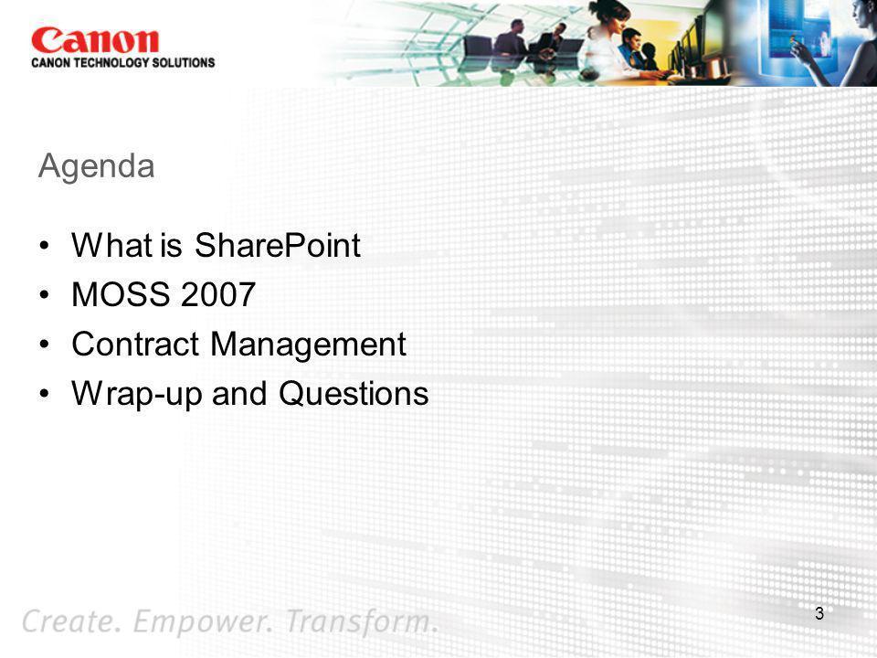 SharePoint Vision HR, Finance, etc.