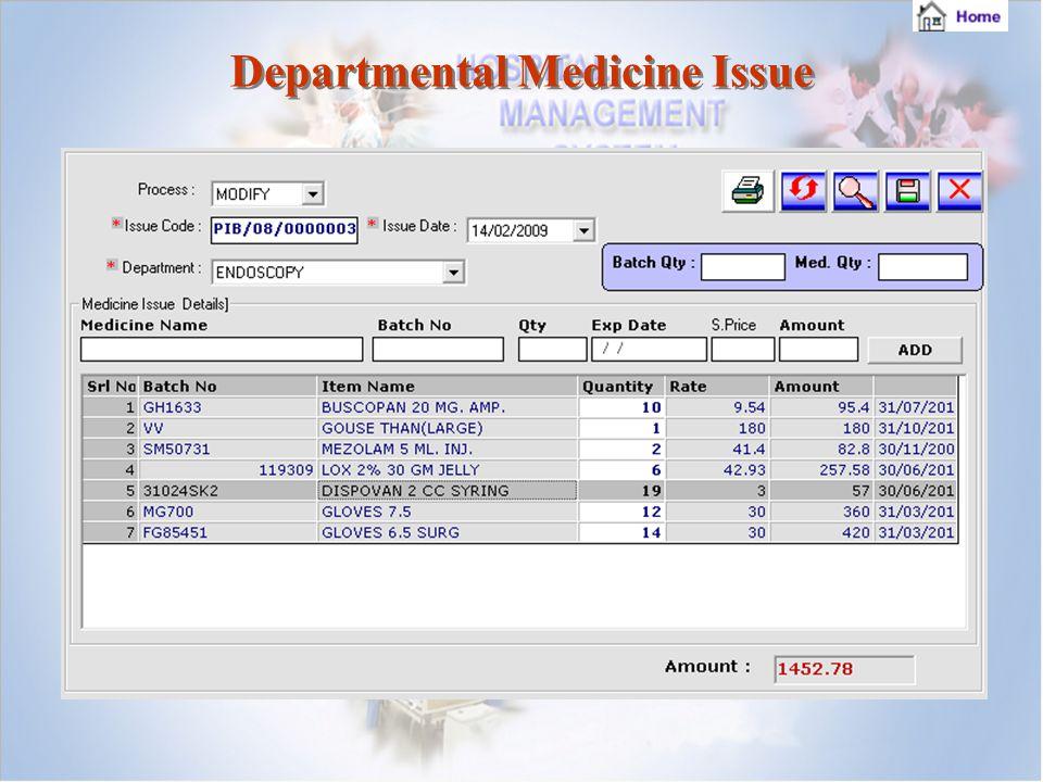 Departmental Medicine Issue Departmental Medicine Issue